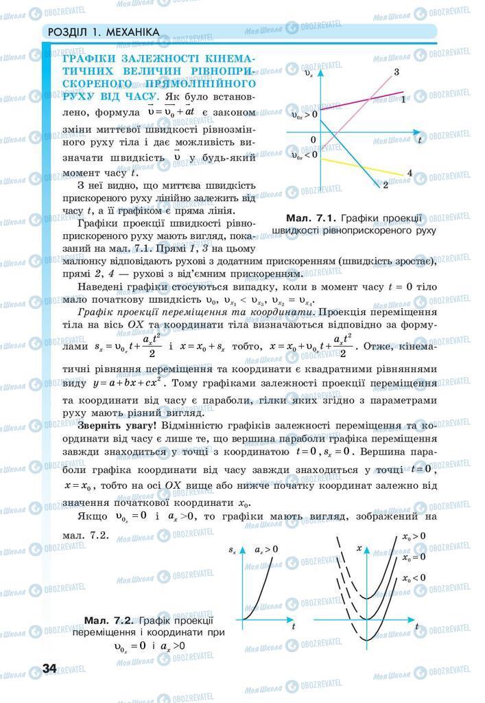 Учебники Физика 10 класс страница 34