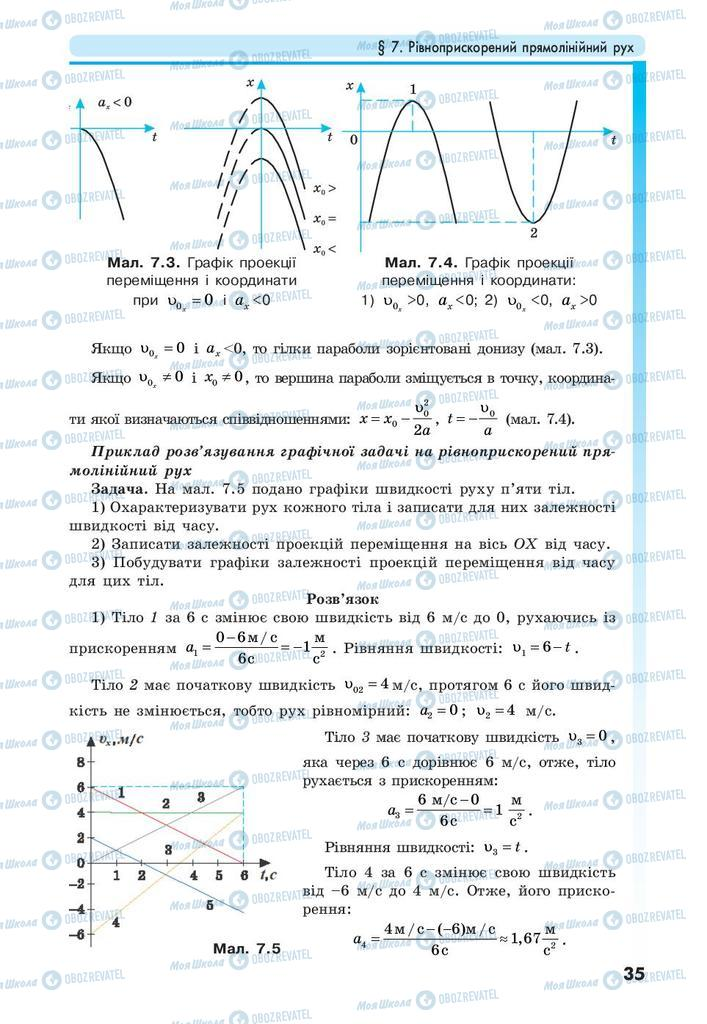 Учебники Физика 10 класс страница 35