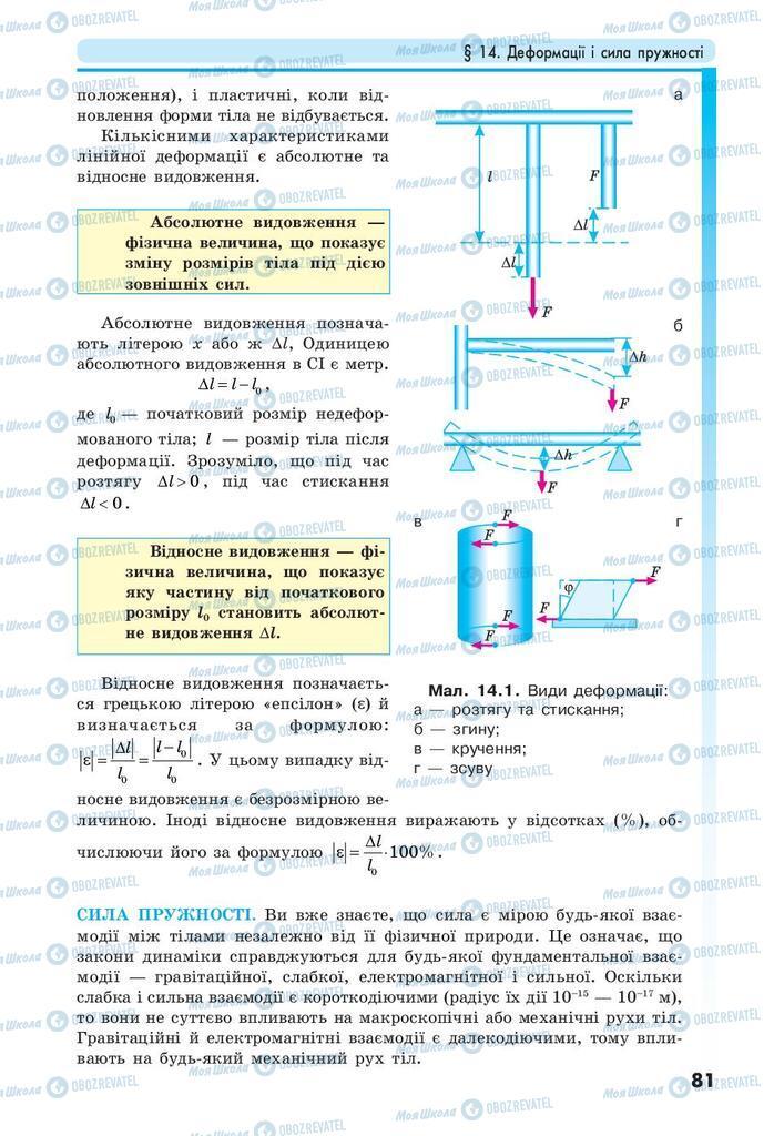 Учебники Физика 10 класс страница 81