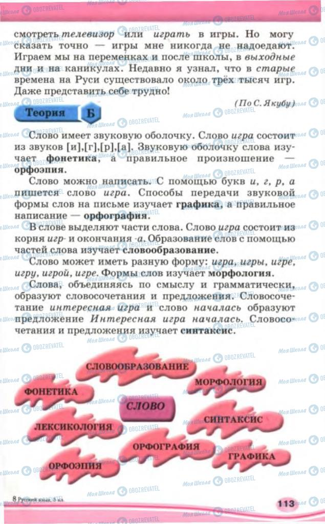 Підручники Російська мова 5 клас сторінка  113