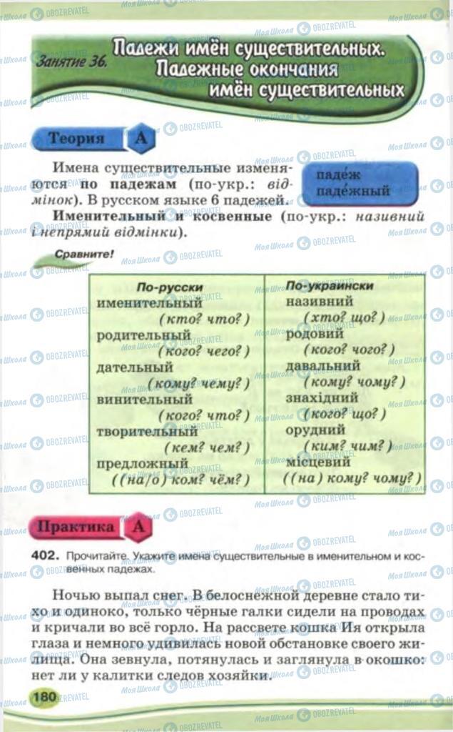Учебники Русский язык 5 класс страница 180