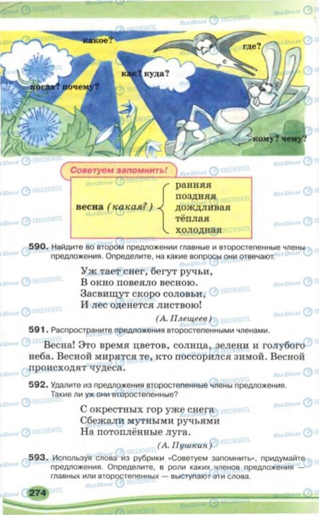 Учебники Русский язык 5 класс страница 274