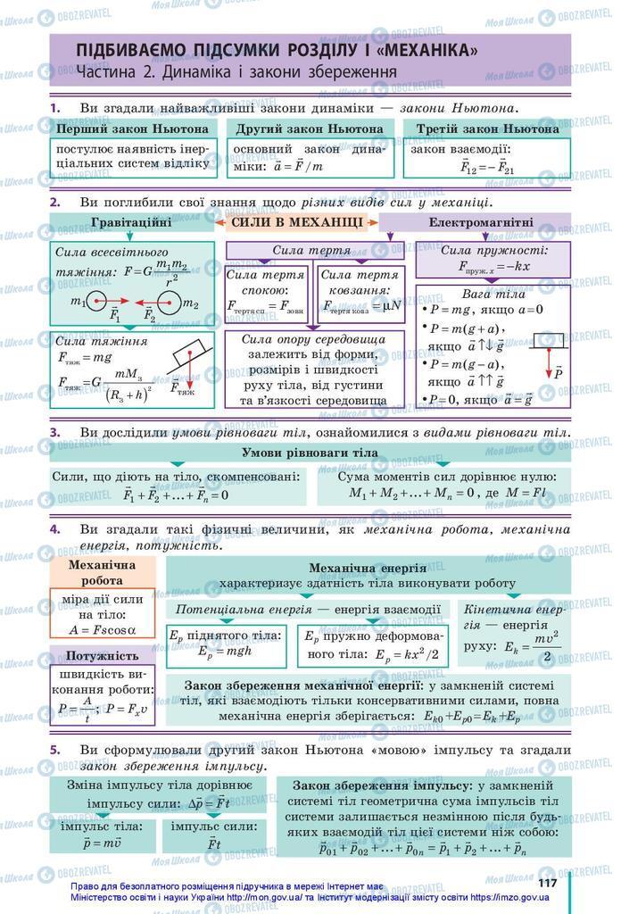 Підручники Фізика 10 клас сторінка  117