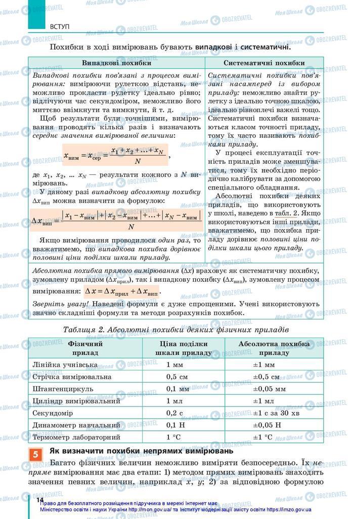 Учебники Физика 10 класс страница 14