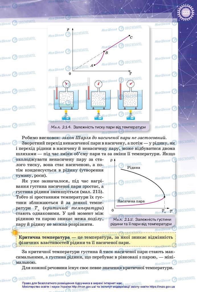 Підручники Фізика 10 клас сторінка 223