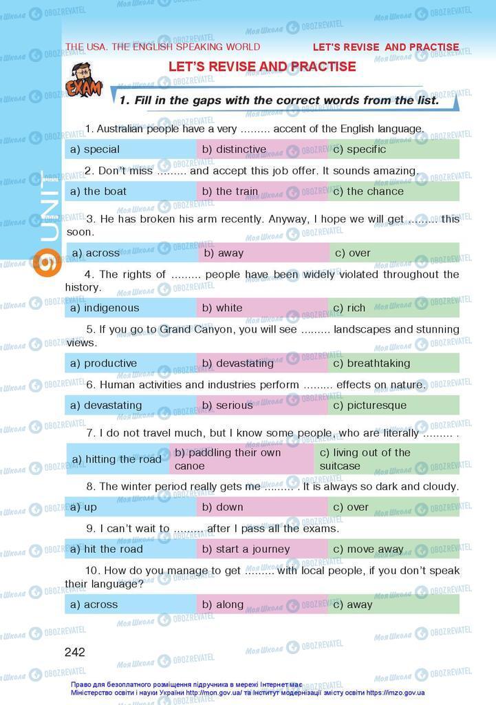 Учебники Английский язык 10 класс страница 242