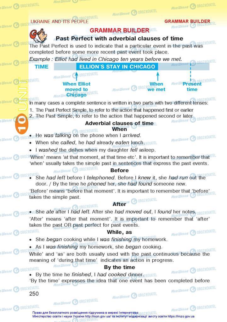 Підручники Англійська мова 10 клас сторінка 250