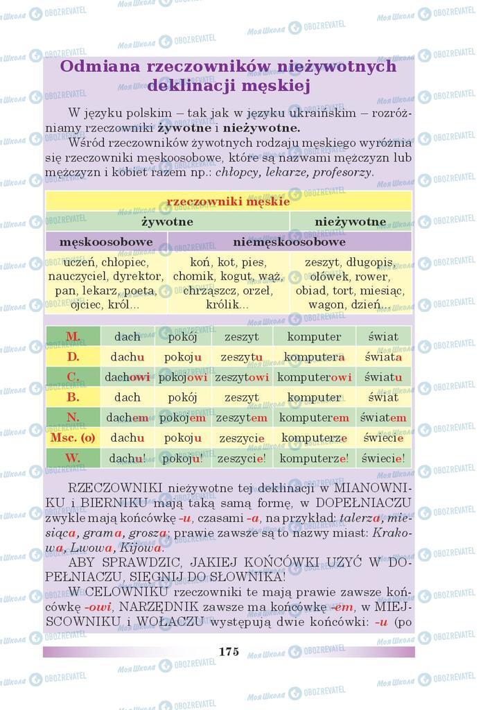 Учебники Польский язык 5 класс страница 175