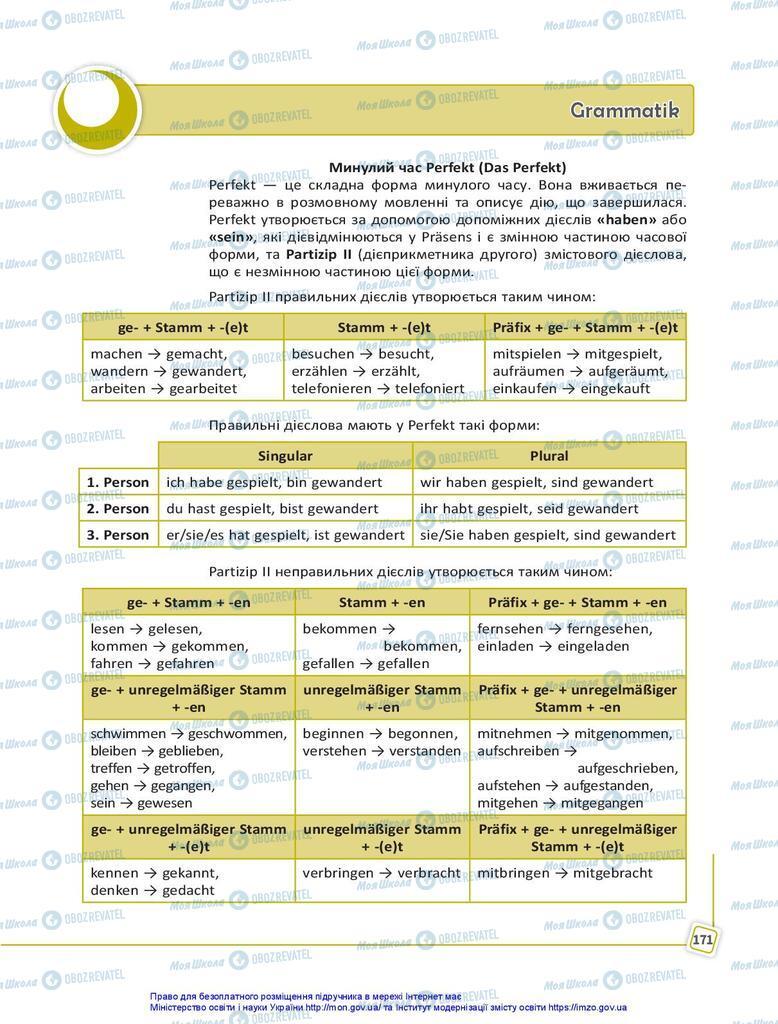 Підручники Німецька мова 10 клас сторінка  171