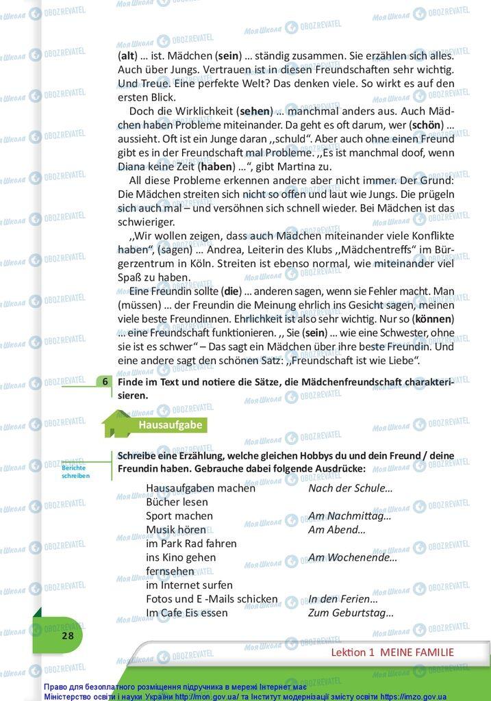 Підручники Німецька мова 10 клас сторінка 28
