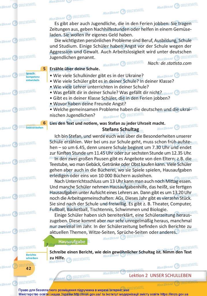 Учебники Немецкий язык 10 класс страница 42