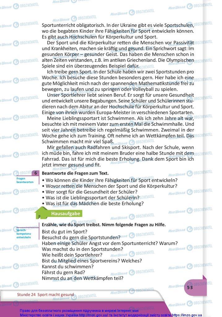 Учебники Немецкий язык 10 класс страница 53