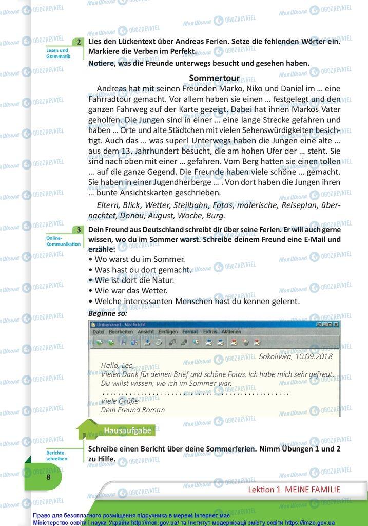 Учебники Немецкий язык 10 класс страница  8