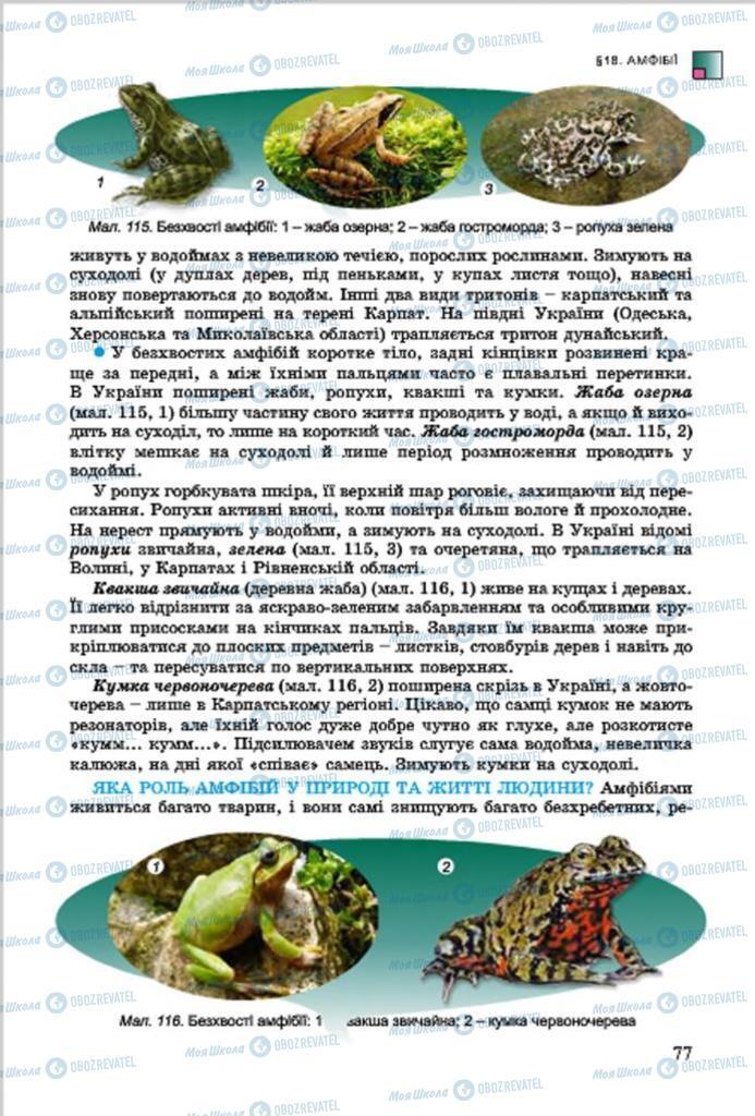 Учебники Биология 7 класс страница 77