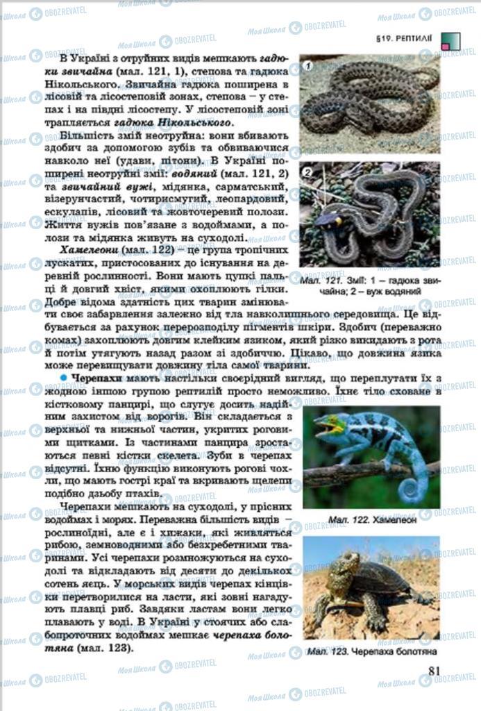 Учебники Биология 7 класс страница 81