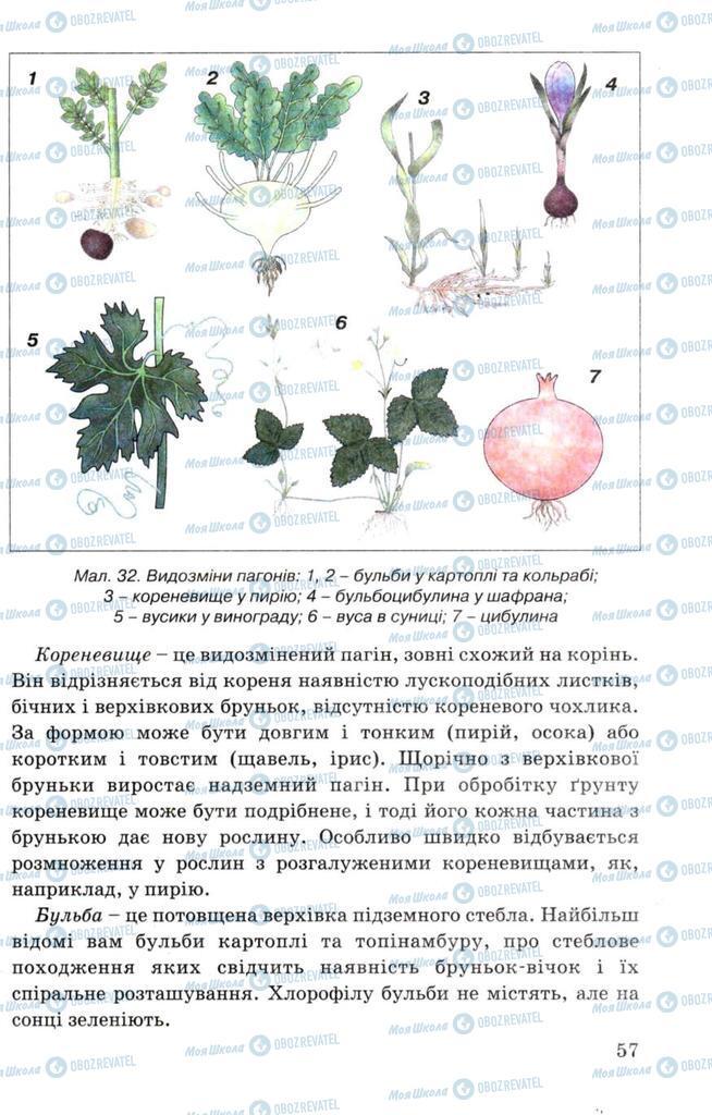 Підручники Біологія 7 клас сторінка 57
