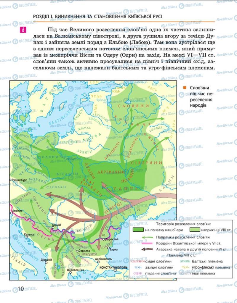 Учебники История Украины 7 класс страница 10