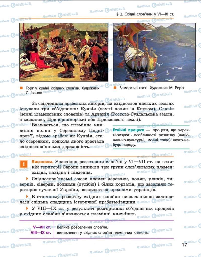 Учебники История Украины 7 класс страница 17