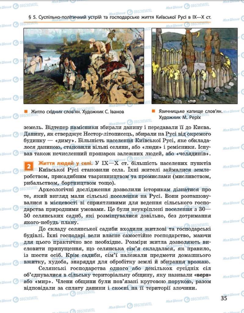 Підручники Історія України 7 клас сторінка 35