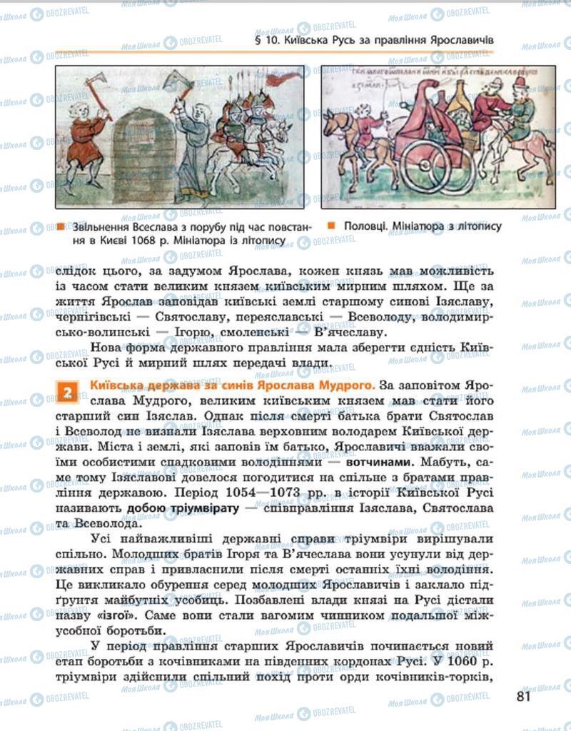 Підручники Історія України 7 клас сторінка 81