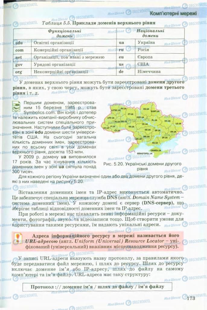 Підручники Інформатика 9 клас сторінка 173