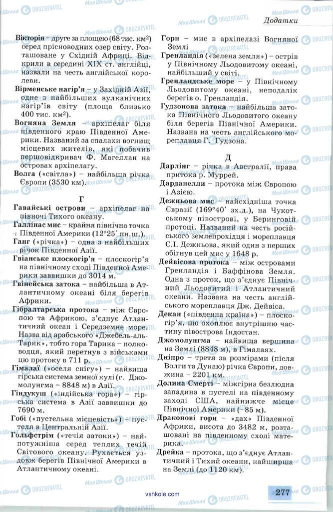 Підручники Географія 7 клас сторінка 277