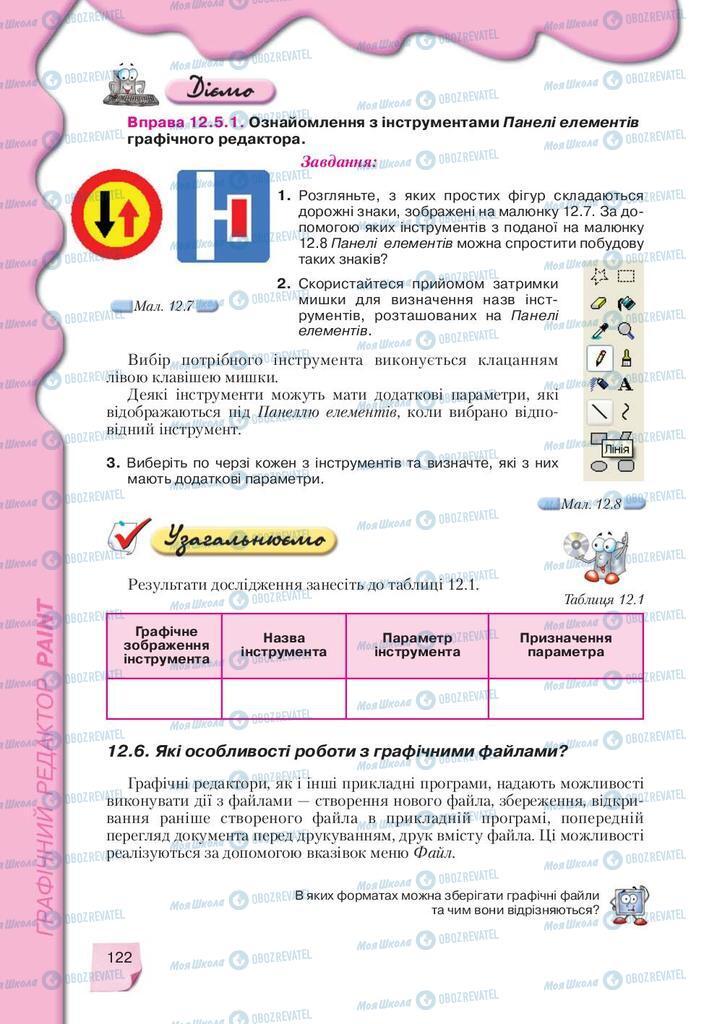 Учебники Информатика 9 класс страница 122