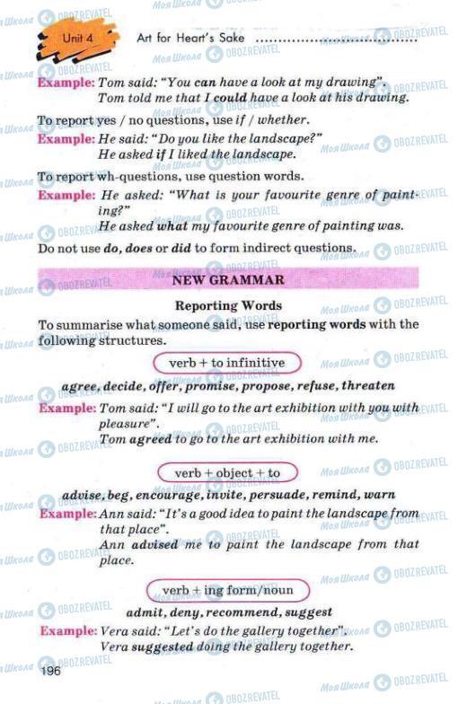 Учебники Английский язык 11 класс страница 196