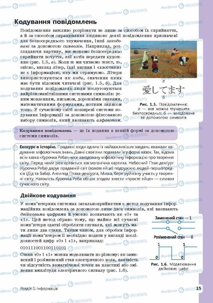 Підручники Інформатика 9 клас сторінка 15