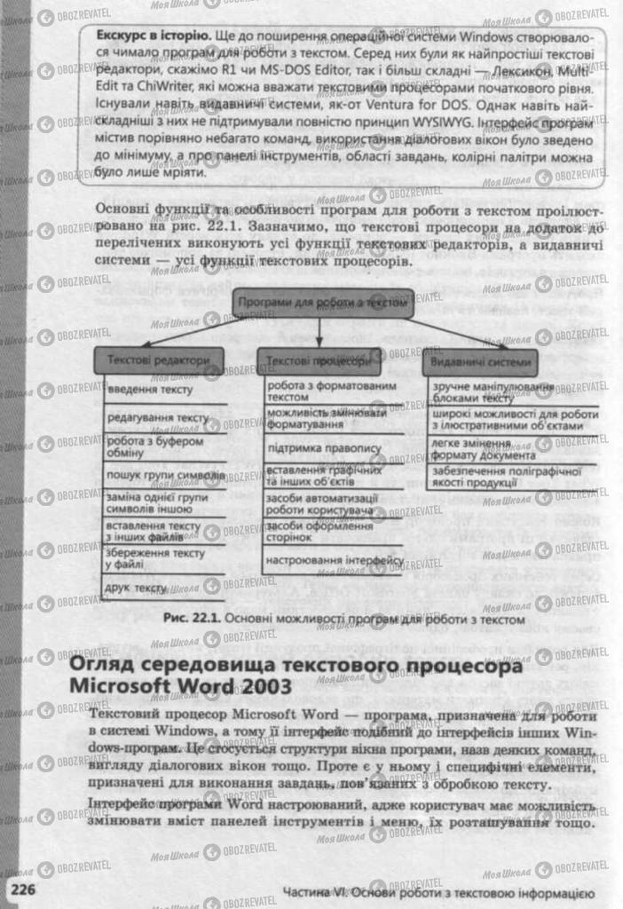 Підручники Інформатика 9 клас сторінка 226
