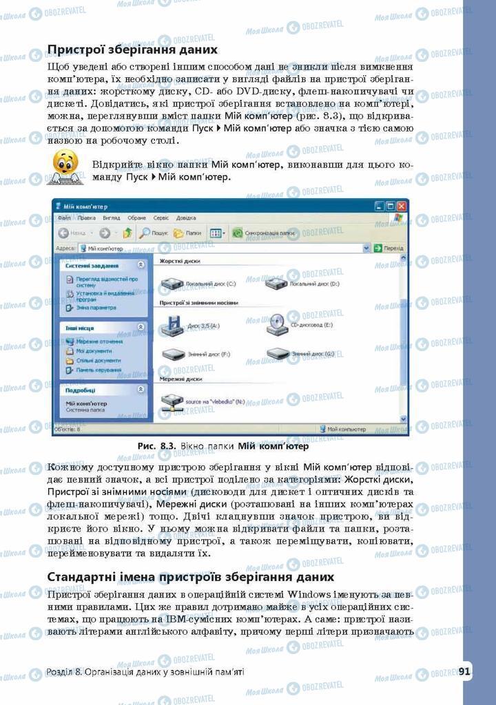 Підручники Інформатика 9 клас сторінка 91