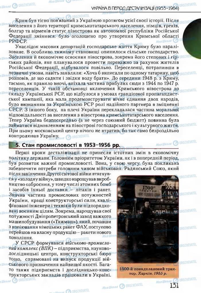 Підручники Історія України 11 клас сторінка 131