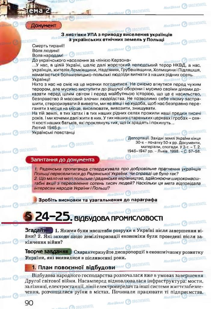 Підручники Історія України 11 клас сторінка  90