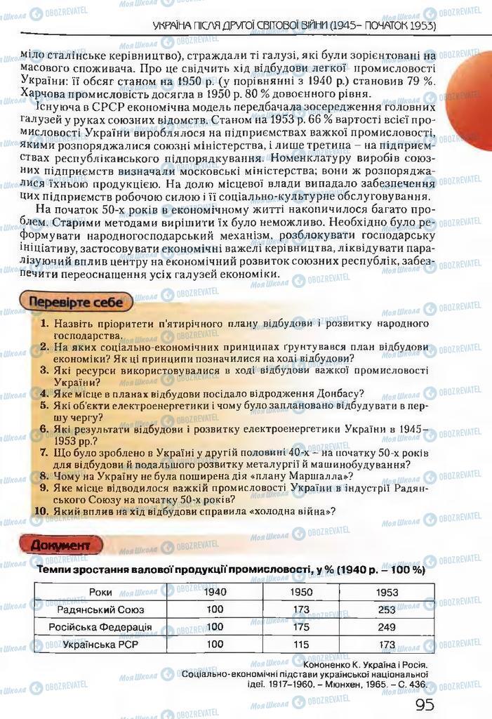 Учебники История Украины 11 класс страница 95