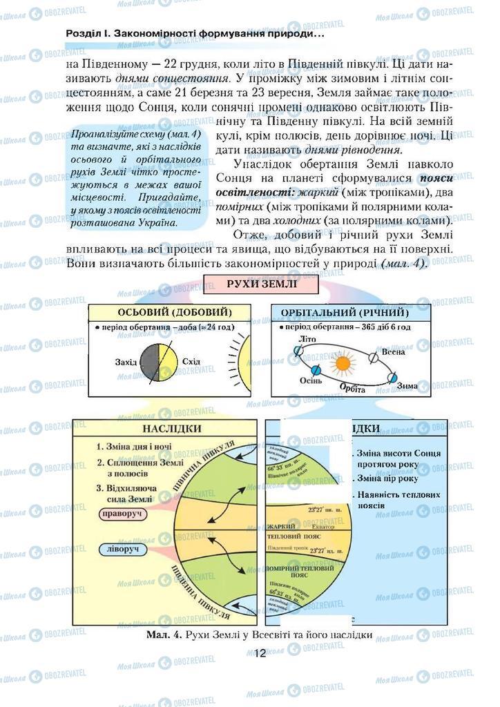 Підручники Географія 7 клас сторінка 12