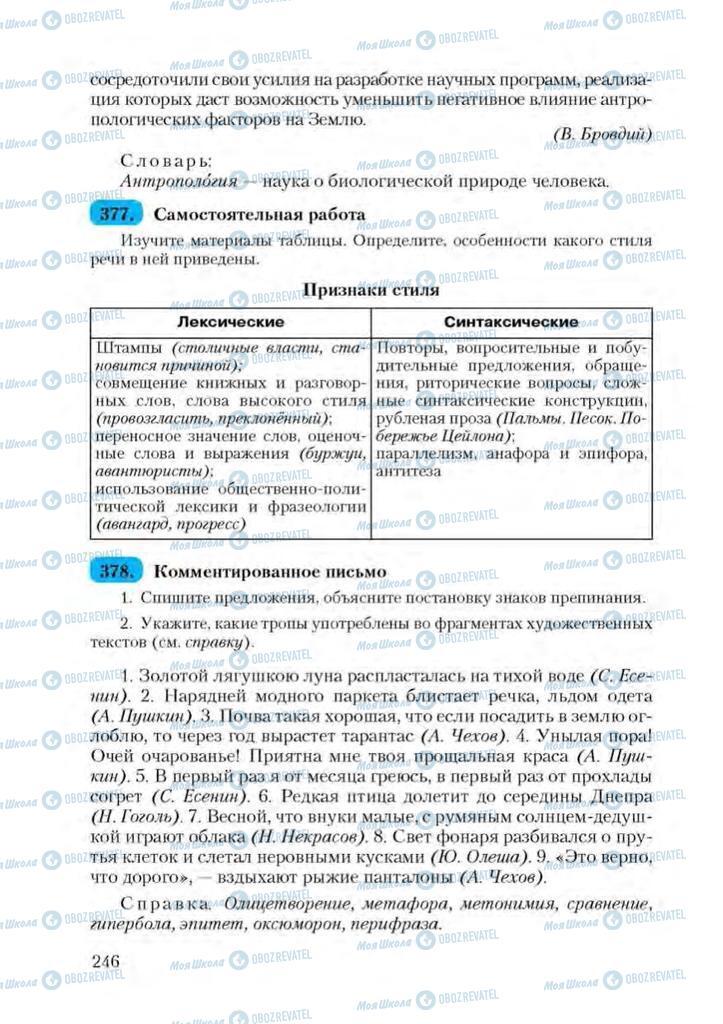 Учебники Русский язык 9 класс страница 246
