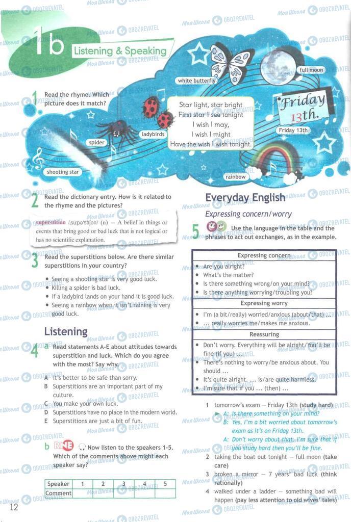 Учебники Английский язык 9 класс страница  12