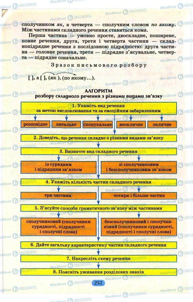 Учебники Укр мова 9 класс страница  252
