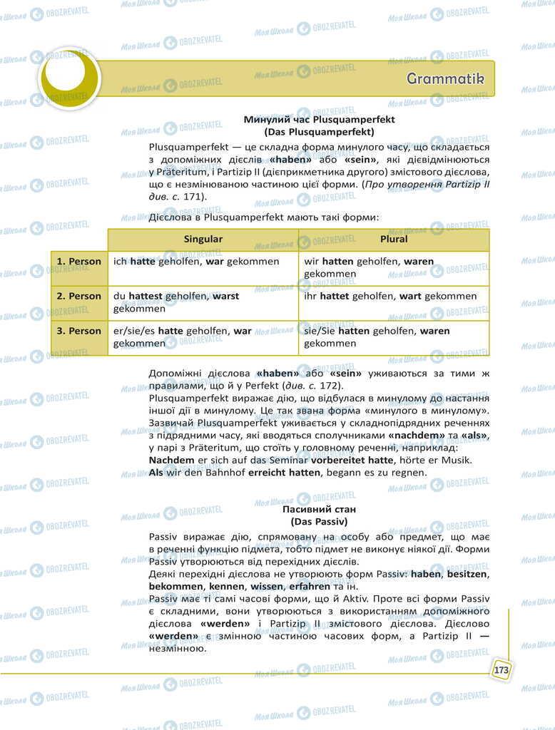 Учебники Немецкий язык 11 класс страница 173