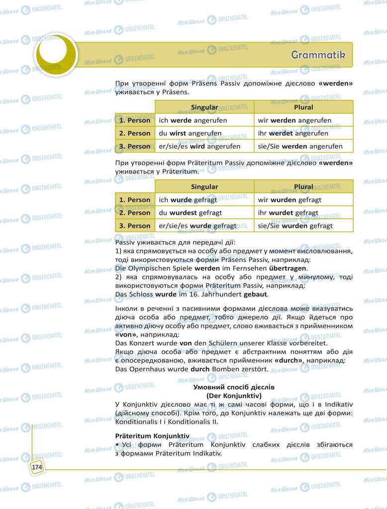 Підручники Німецька мова 11 клас сторінка 174