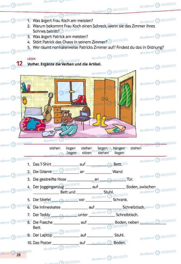 Учебники Немецкий язык 11 класс страница 28