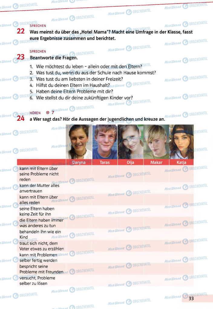 Учебники Немецкий язык 11 класс страница 33