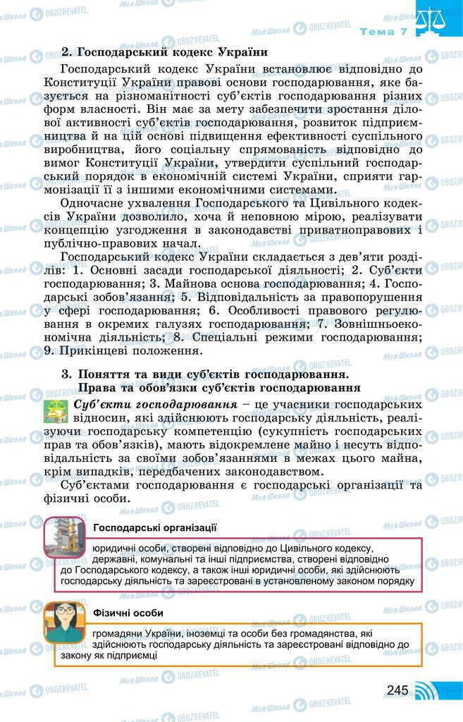 Підручники Правознавство 11 клас сторінка 245