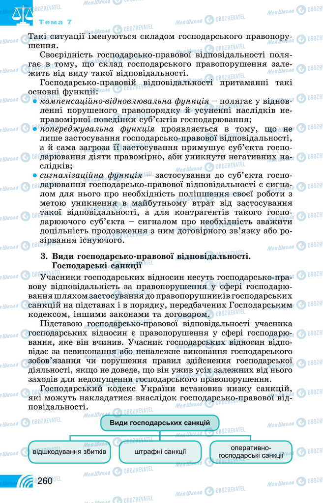 Підручники Правознавство 11 клас сторінка 260