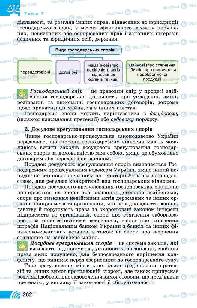 Учебники Правоведение 11 класс страница 262