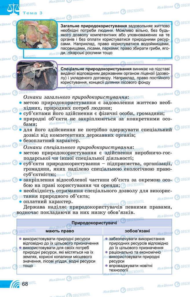 Підручники Правознавство 11 клас сторінка 68