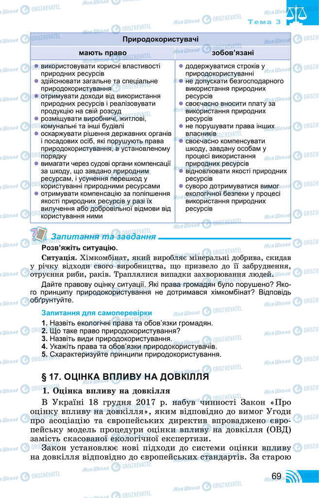 Підручники Правознавство 11 клас сторінка 69