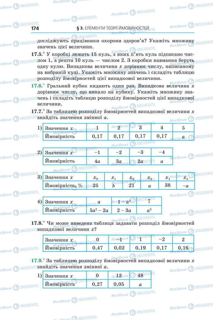 Учебники Алгебра 11 класс страница 174