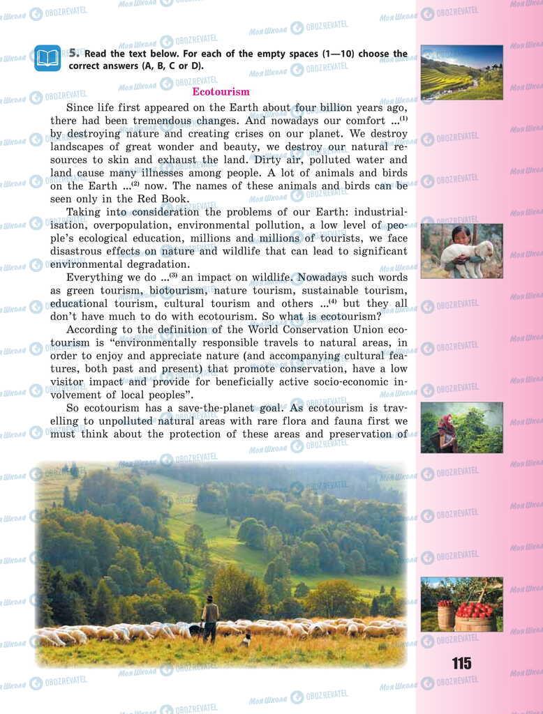 Підручники Англійська мова 11 клас сторінка 115