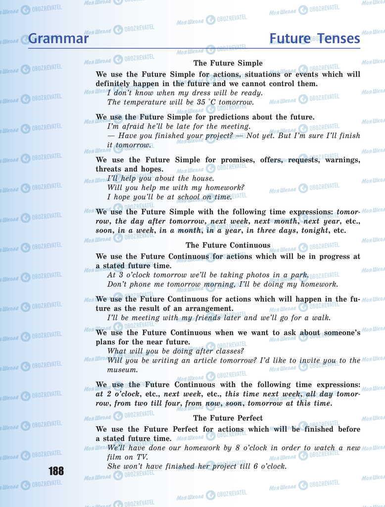 Підручники Англійська мова 11 клас сторінка 188